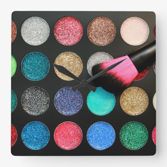 Glitter Makeup Wall Clock