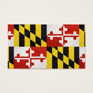 Glitter Maryland flag customizable business cards