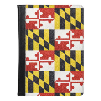 Glitter Maryland flag ipad air folio case
