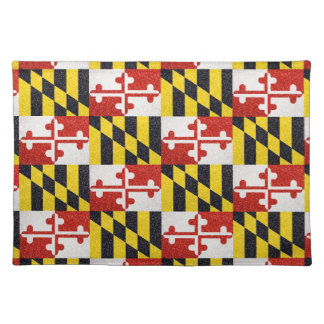 Glitter Maryland flag rectangle placemat