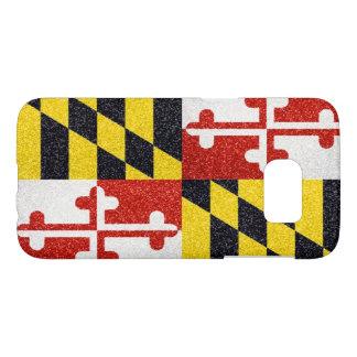Glitter Maryland state flag Samsung Galaxy S7 case