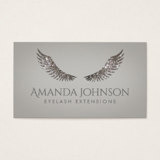 Glitter Mascara Eyelash Extensions Luxurious Card