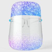Glitter Mermaid Blue Sparkle & Shimmer Face Shield