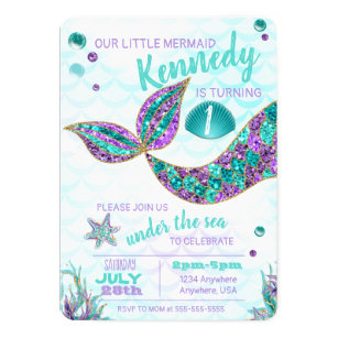 Mermaid Invitations 400 Mermaid Announcements Invites