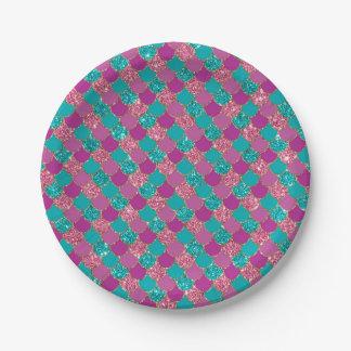 Glitter mermaid texture Plate