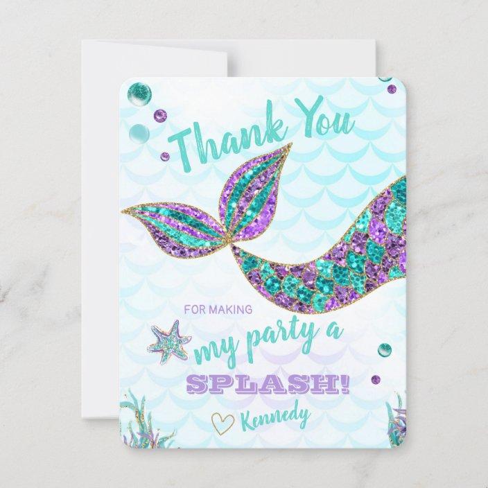 You Are Wonderful Mermaid Glitter Greeting Card
