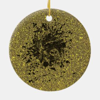 Glitter Monkey Ceramic Ornament