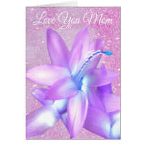 *~* Glitter Mother's Day Love You Flower Customize