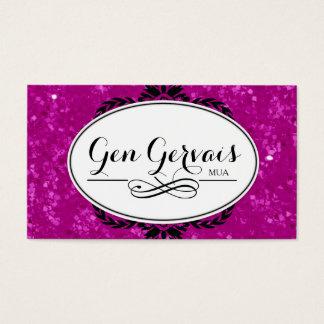 Glitter MUA Business Card Template