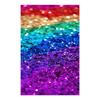 Glitter Multi Colored Sparkle Purple yellow green Stationery