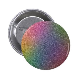 Glitter multicolores pin redondo de 2 pulgadas