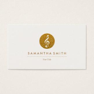 Glitter Musical Note Logo Business Card