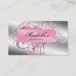 Bling business cards templates zazzle glitter nail salon appointment elegant bling colourmoves