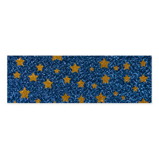 Glitter night sky Double-Sided mini business cards (Pack of 20)