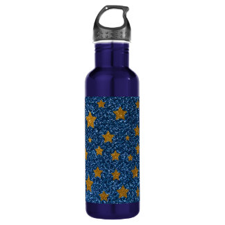Glitter night sky stainless steel water bottle