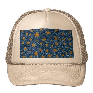 Glitter night sky trucker hat