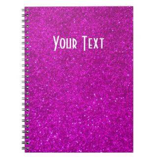 Glitter notebook with faux pink glimmers