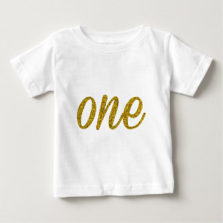 Glitter Number ONE (1) Baby T-Shirt