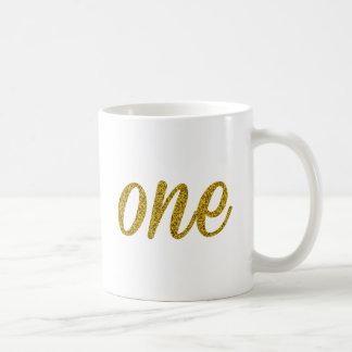 Glitter Number ONE (1) Coffee Mug