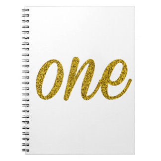 Glitter Number ONE (1) Spiral Notebook