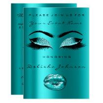 Glitter Ocean Mermaid Bridal Shower Sweet 16th Card