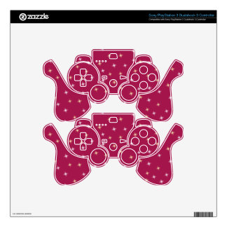 Glitter on Pink Skins For PS3 Controllers