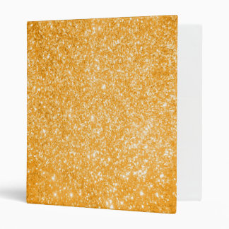 Glitter Orange Vinyl Binders