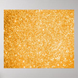 Glitter Orange Poster
