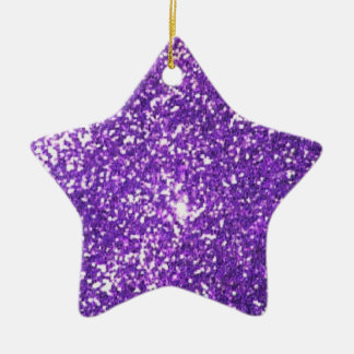glitter Double-Sided star ceramic christmas ornament