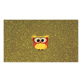 Glitter Owl Business Card