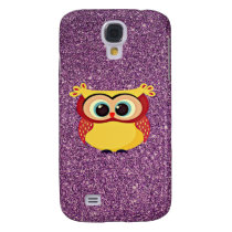 Glitter Owl Galaxy S4 Cover