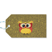 Glitter Owl Gift Tags