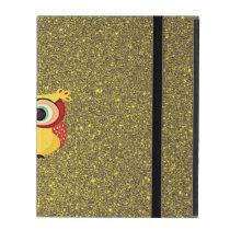 Glitter Owl iPad Folio Case
