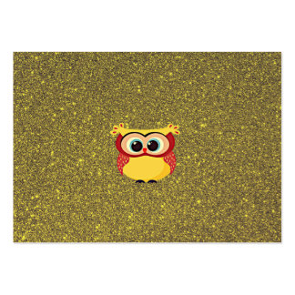 Glitter Owl Large Business Card