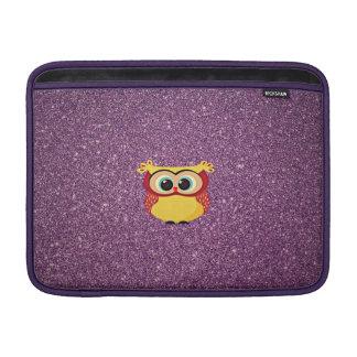 Glitter Owl MacBook Air Sleeve