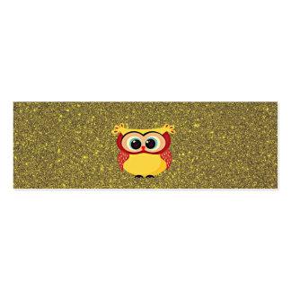 Glitter Owl Mini Business Card