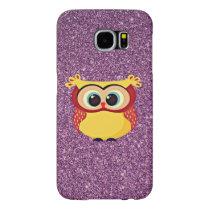 Glitter Owl Samsung Galaxy S6 Case