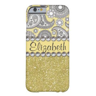 Glitter Paisley Rhinestone Pattern iPhone 6 Case