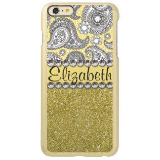 Glitter Paisley Rhinestone Print Pattern Incipio Feather® Shine iPhone 6 Plus Case