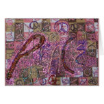 Glitter Peace Greeting Cards