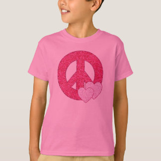 Glitter Peace Sign T-Shirt