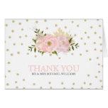 Glitter Peony Wedding Thank You Cards