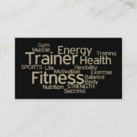 Glitter Personal Trainer Business Card
