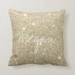 "Glitter Pillow<br><div class=""desc"">Gold Glitter Pillow with customizable name or text.</div>"