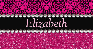 Bling business card holders cases zazzle glitter pink and black pattern rhinestones business card holder colourmoves Image collections