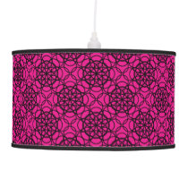 Glitter Pink and Black Pattern Rhinestones Ceiling Lamp