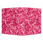 Glitter Pink Circles 3 Ring Binder