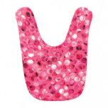 Glitter Pink Circles Baby Bib