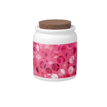 Glitter Pink Circles Candy Jar