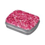 Glitter Pink Circles Candy Tin